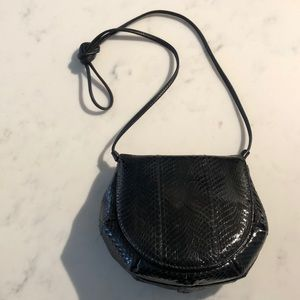 Vintage black snakeskin crossbody